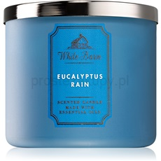 Bath & Body Works Eucalyptus Rain 411 g świeczka zapachowa  z olejkami eterycznymi